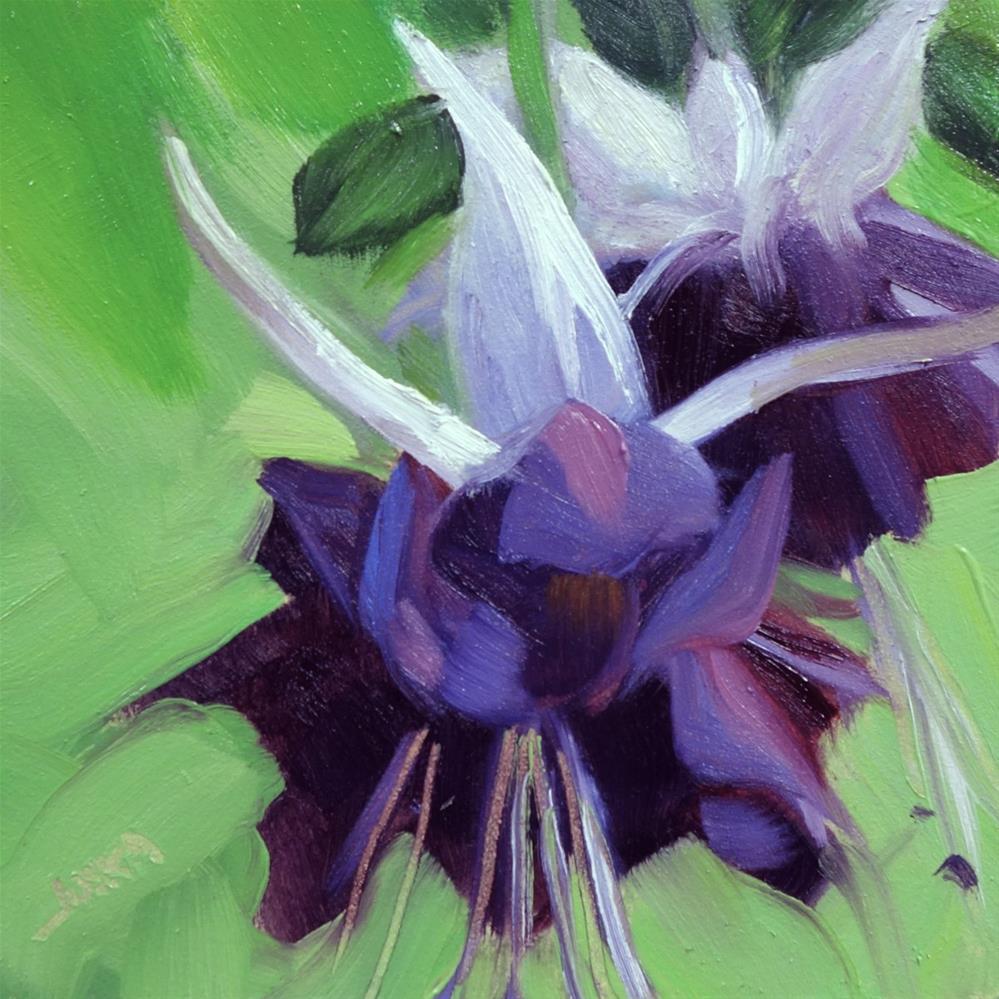"""Dark Fuchsia"" original fine art by Elaine Juska Joseph"