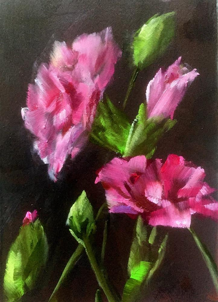 """Pink Carnations"" original fine art by Gary Bruton"