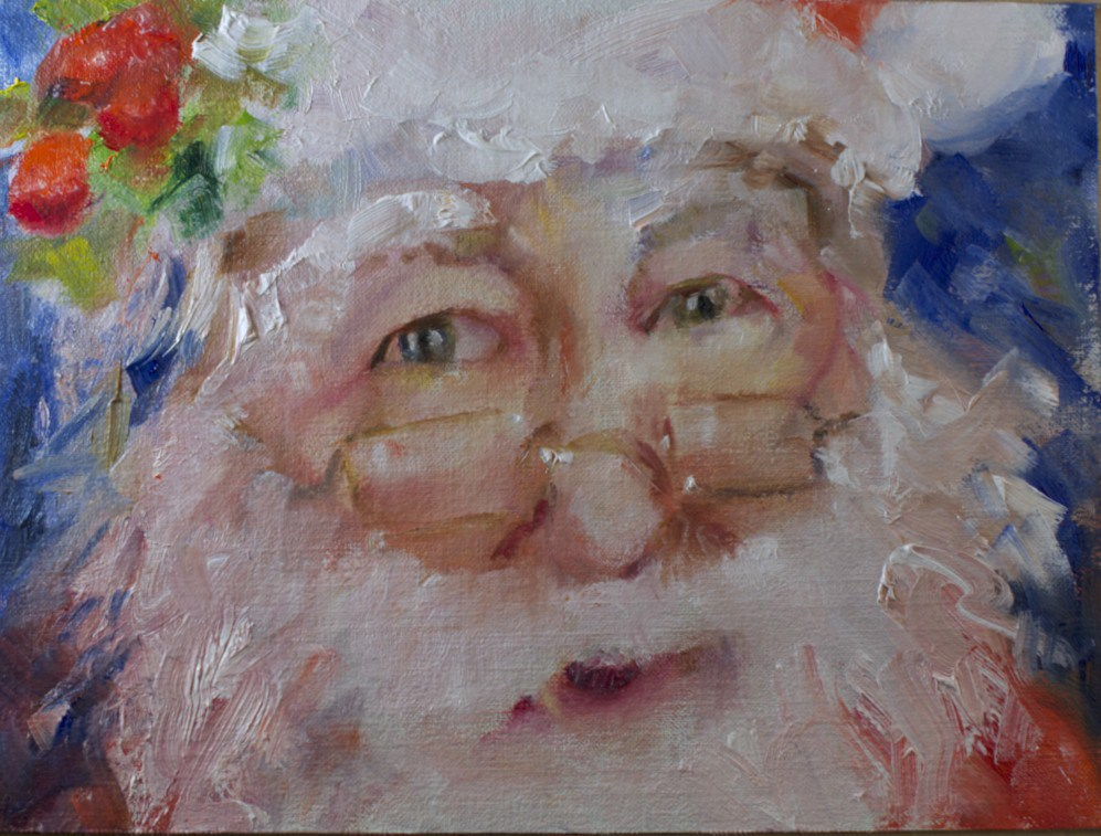 """Ho Ho #2"" original fine art by Sue Churchgrant"