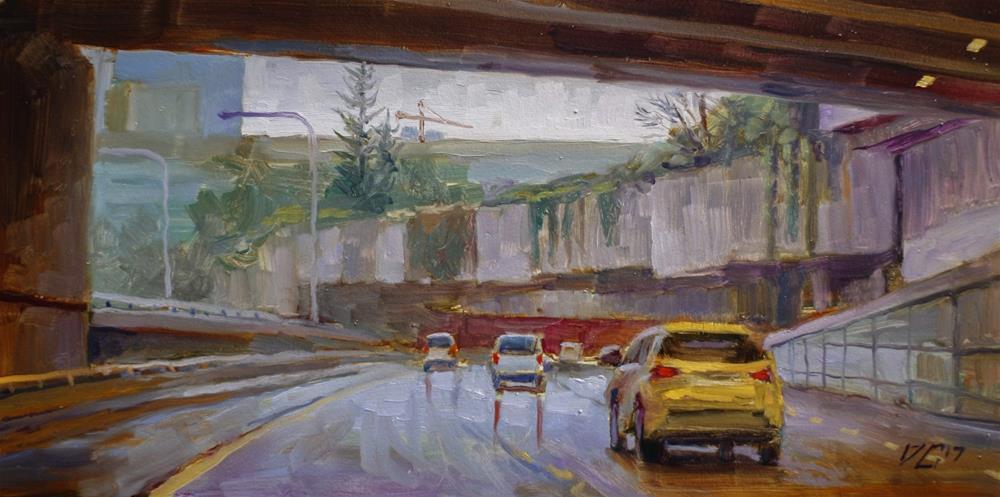"""Seattle Underpass No.3"" original fine art by Dimitriy Gritsenko"