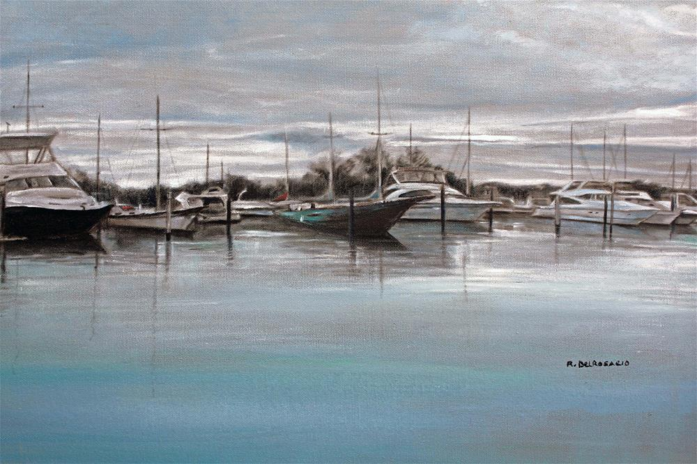 """The Bay (18 x 24 Oil on stretched canvas - no frame)"" original fine art by Ramon DelRosario"