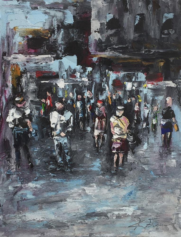 """Piazza Della Città"" original fine art by Ken Fraser"
