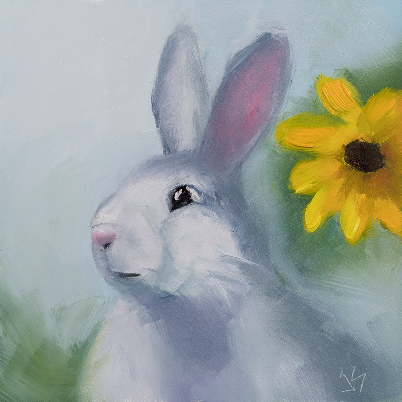 """Hop to It"" original fine art by Johnna Schelling"