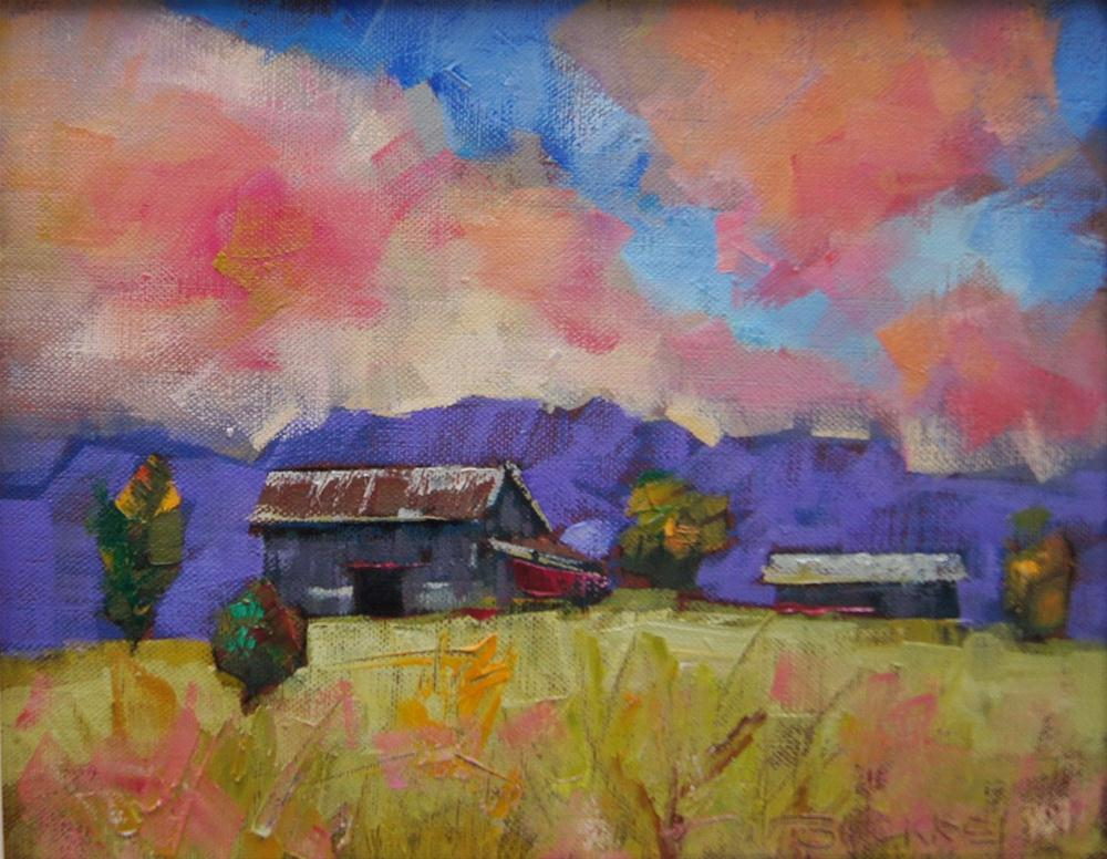 """Escarpment Farming"" original fine art by Brian Buckrell"