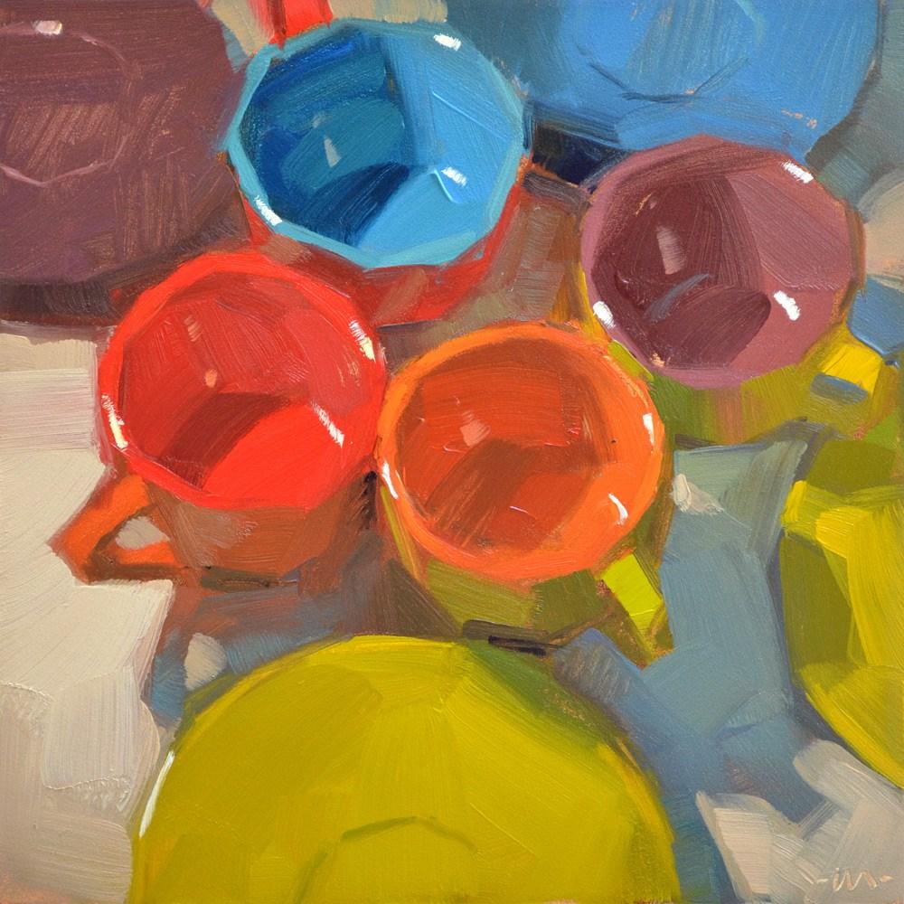 """Places Everyone!"" original fine art by Carol Marine"