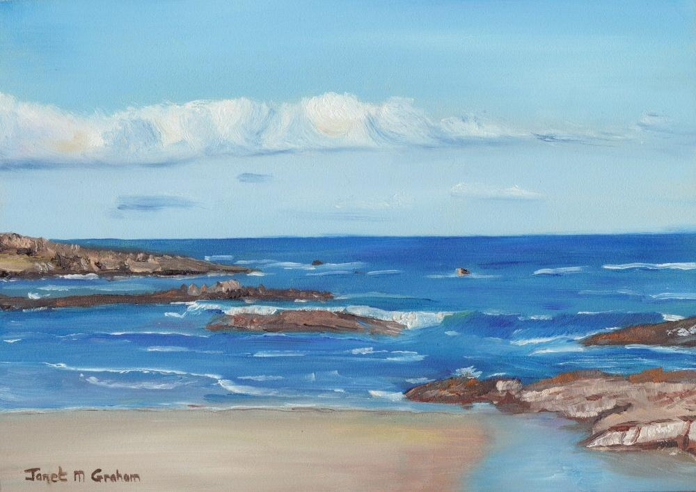 """Nelsons Bay 2"" original fine art by Janet Graham"