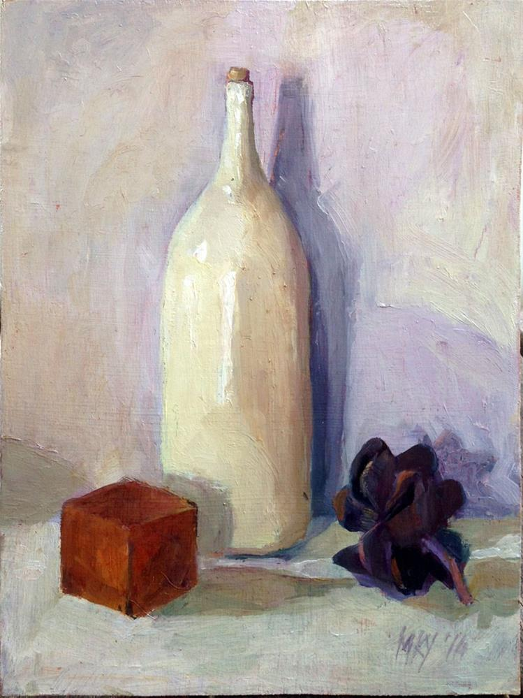 """Bottle, Cube & Pod"" original fine art by Myriam Kin-Yee"