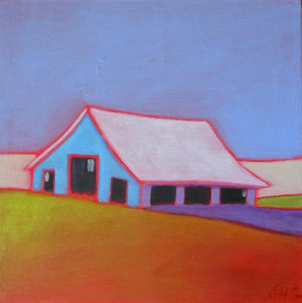 """Prairie Barn 2"" original fine art by Almira Hill Grammer"