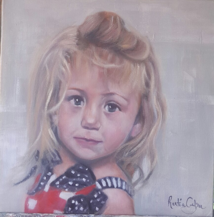 """Ella"" original fine art by Rentia Coetzee"