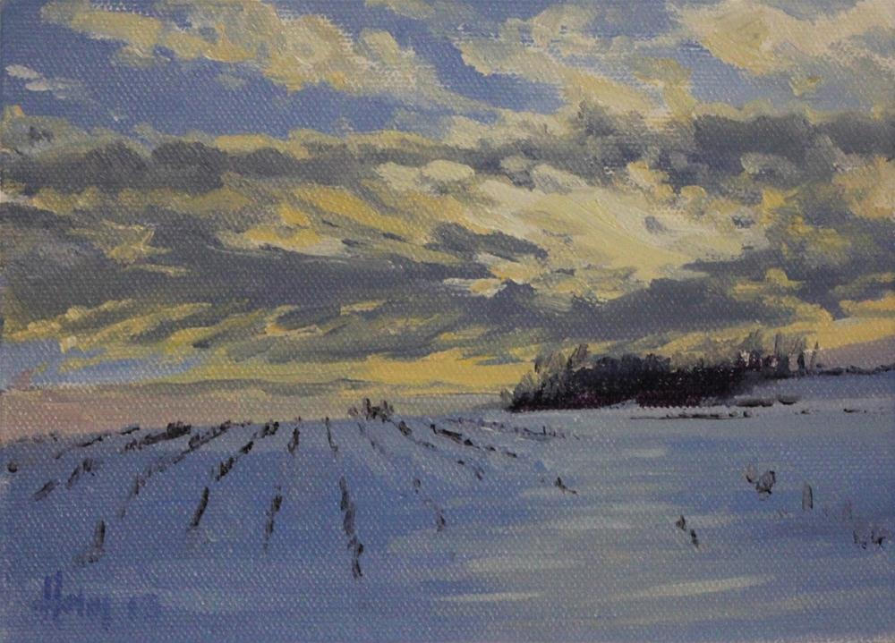 """Sea of White"" original fine art by Ski Holm"