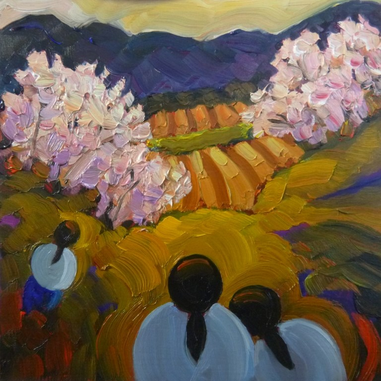 """31 CANYON WOMEN, THE ORCHARD"" original fine art by Dee Sanchez"