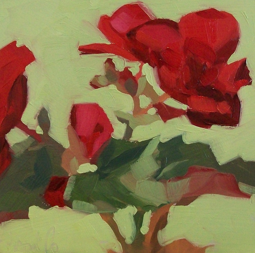 """Red study 3"" original fine art by Brandi Bowman"