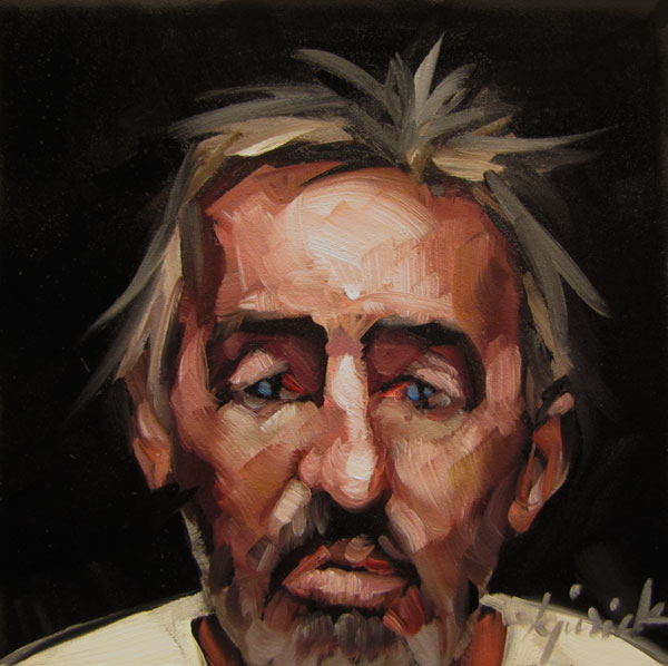 """100 Faces, No. 59"" original fine art by Karin Jurick"