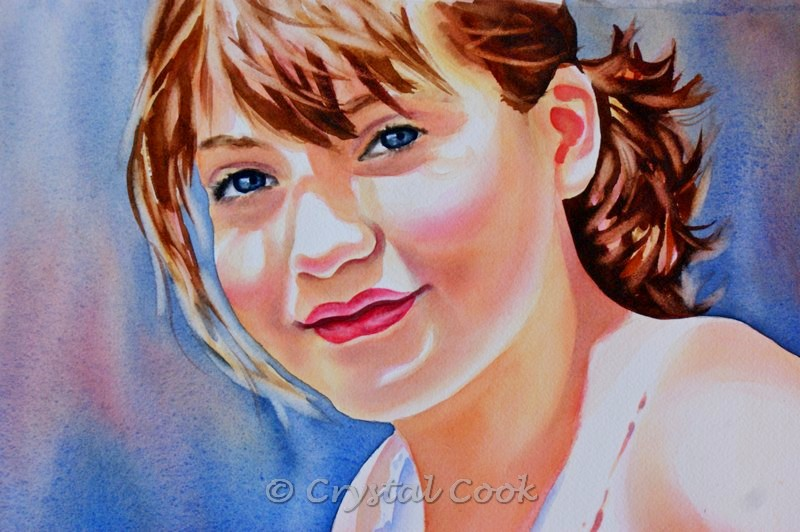 """Beautiful Girl"" original fine art by Crystal Cook"