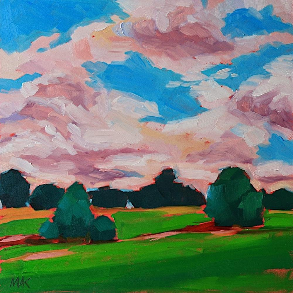"""Just Before Dusk"" original fine art by Mary Anne Cary"