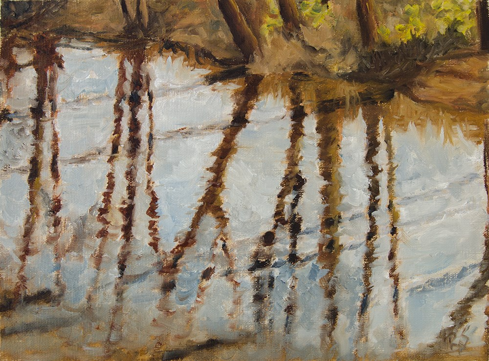 """5. Warm winter sunny reflections"" original fine art by Rachel Steely"