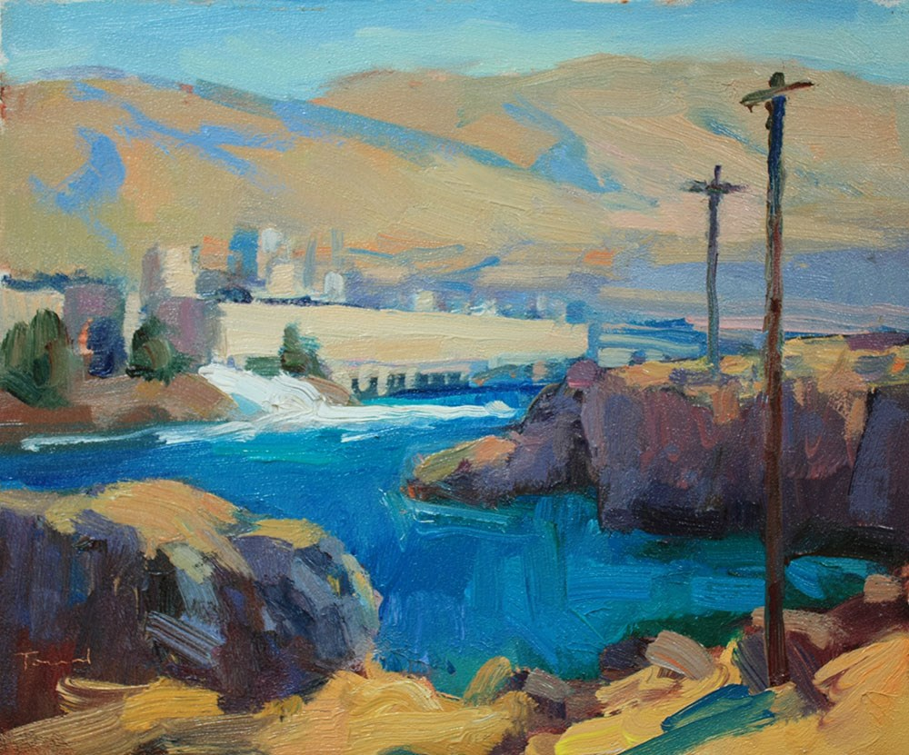 """The Dalles"" original fine art by Kathryn Townsend"