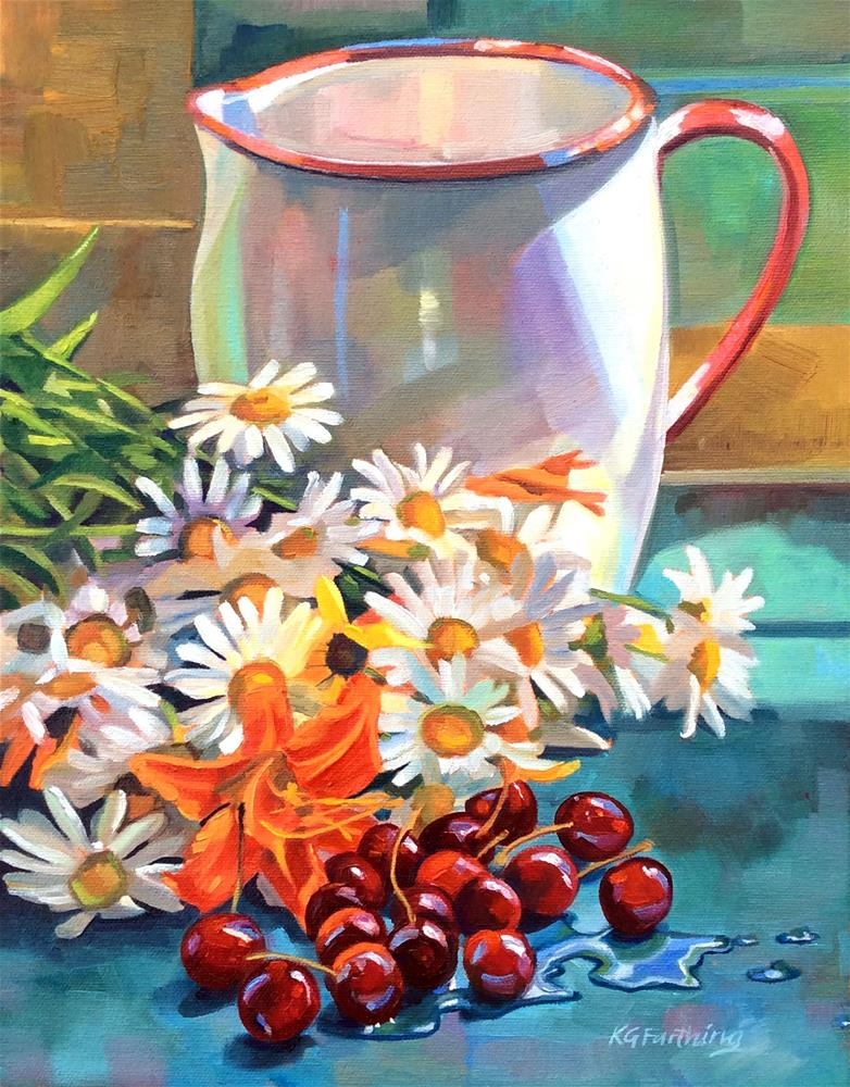 """Daisy Day"" original fine art by Kathleen Gray Farthing"