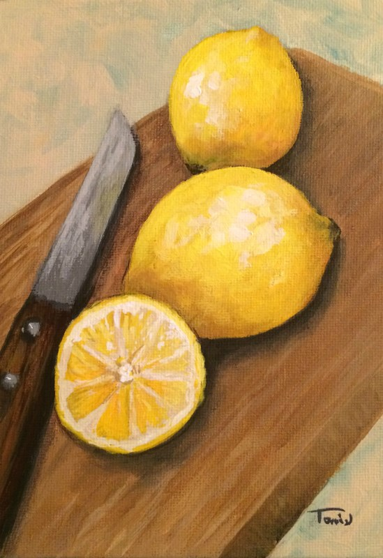 """Fresh Cut Lemon"" original fine art by Torrie Smiley"