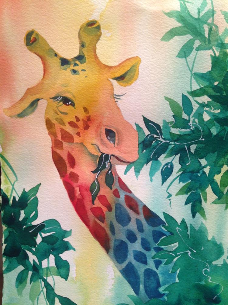 """Giraffe"" original fine art by Margie Whittington"