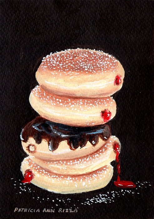 """Stack of Donuts"" original fine art by Patricia Ann Rizzo"