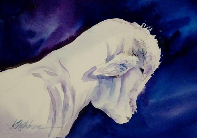 """Holy is the Lamb"" original fine art by Kathy Los-Rathburn"