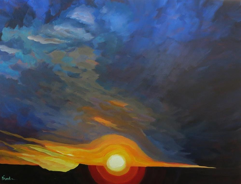 """AWAY FROM SANTA FE"" original fine art by Dee Sanchez"