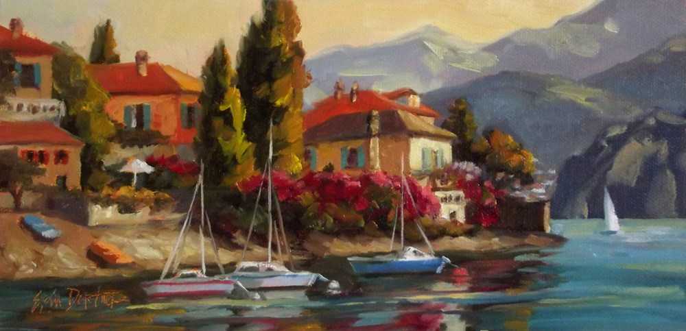 """Como Holiday"" original fine art by Erin Dertner"
