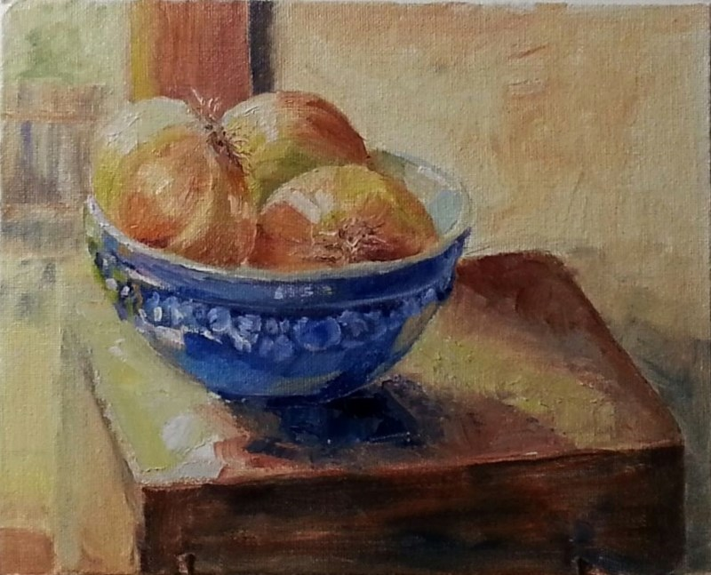 """Onion Bowl"" original fine art by Christine Lewis"