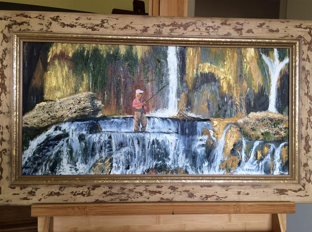 """The Falls in Idaho"" original fine art by Kenny Arnold"