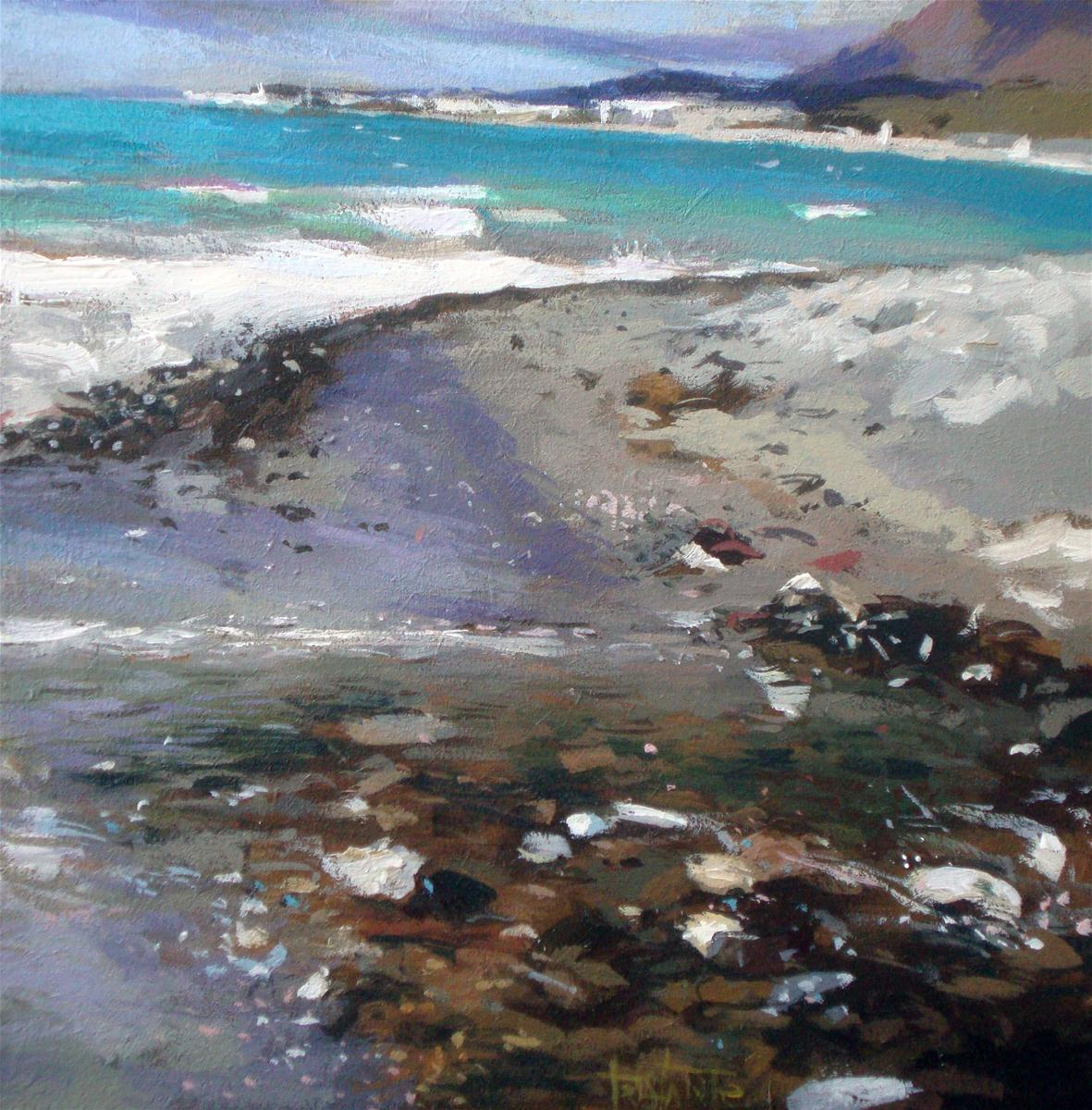"""Beach"" original fine art by Víctor Tristante"