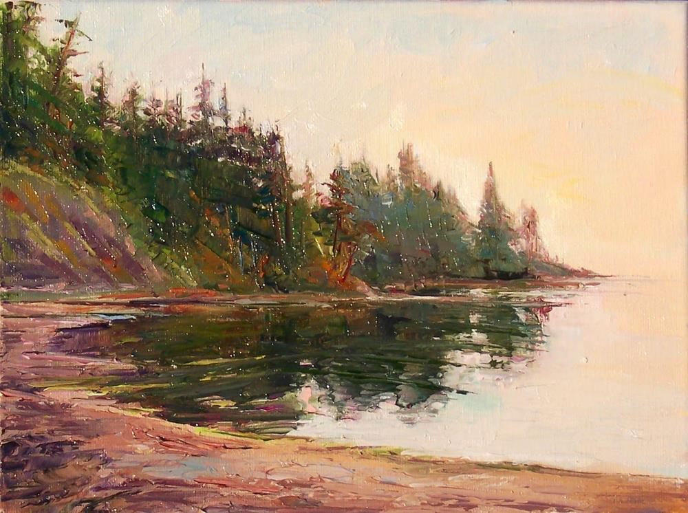 """Morning at Larrabee,seascape,oil on canvas,9x12,Price$500"" original fine art by Joy Olney"