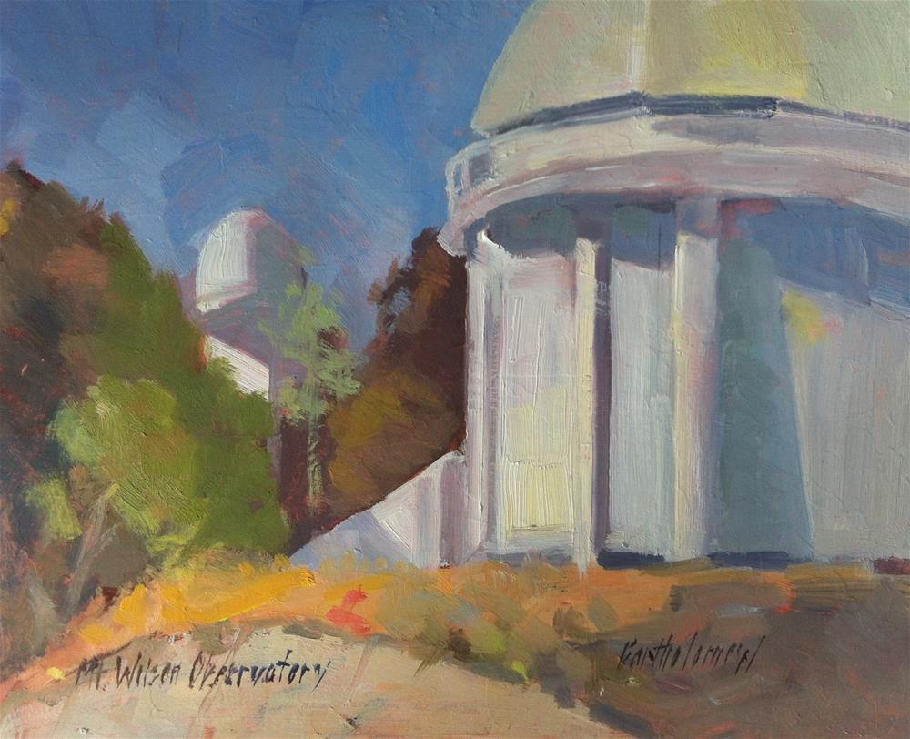 """Mt. Wilson Observatory, California"" original fine art by Karla Bartholomew"
