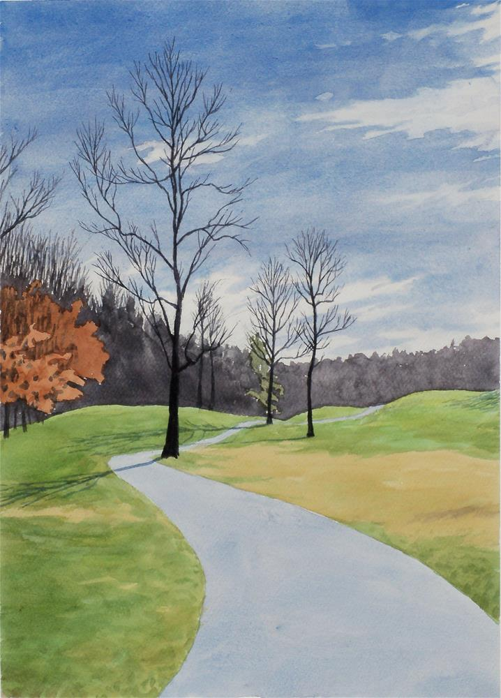 """Golf Cart Path"" original fine art by Greg Arens"