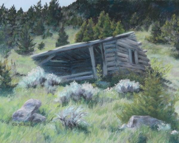 """""""Old Cabin by the Ruby Mine"""" original fine art by Carol Zirkle"""
