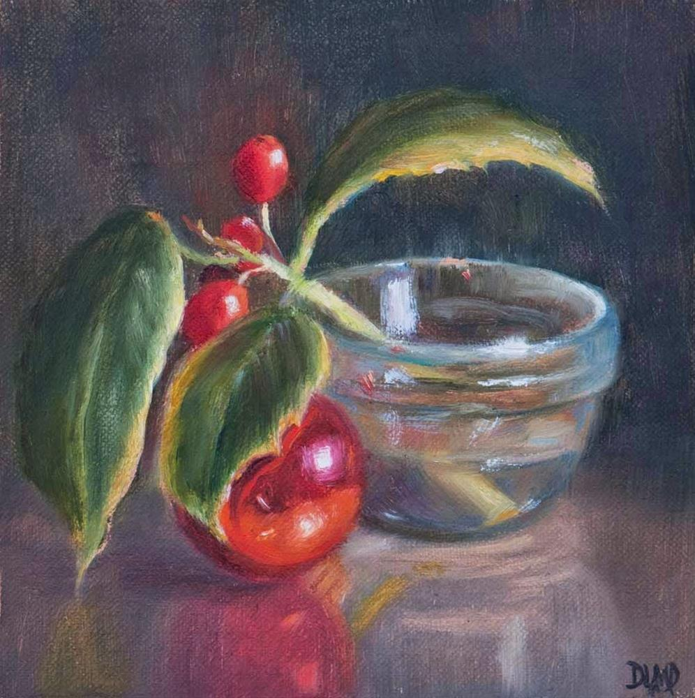 """A Sprig of Holly"" original fine art by Debbie Lamey-Macdonald"