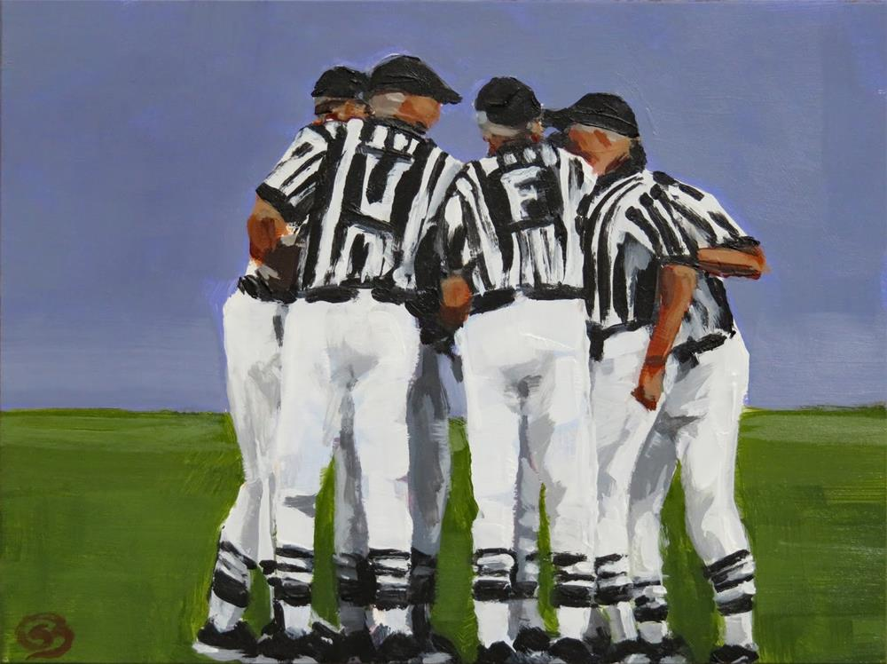 """Are You Ready For Some Football?"" original fine art by Shari Buelt"