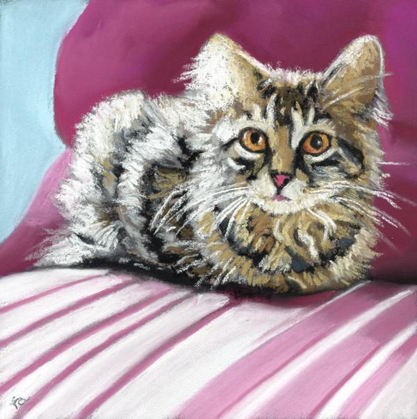 the whole cat . . original fine art by Ria Hills