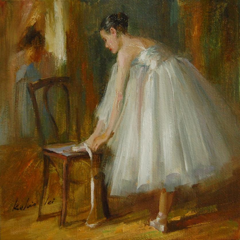 """""""Rehearsal"""" original fine art by Kelvin Lei"""