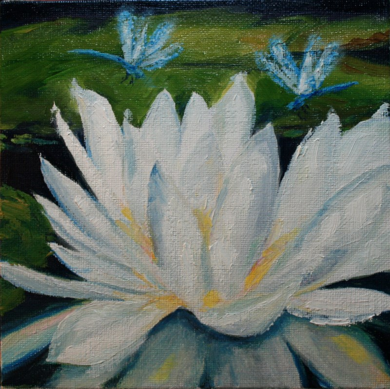 """Dragonflies"" original fine art by Jean Nelson"