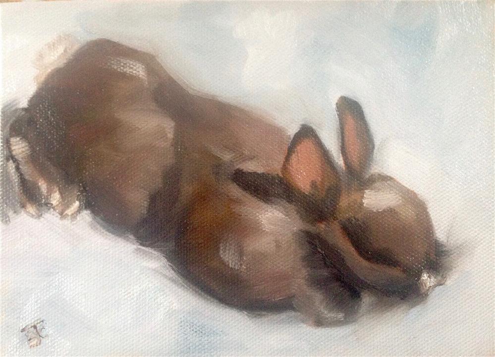 """Choco-Latte"" original fine art by Bobbie Cook"