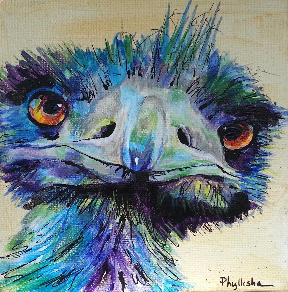 """You lookin' at me!"" original fine art by Phyllisha Hamrick"
