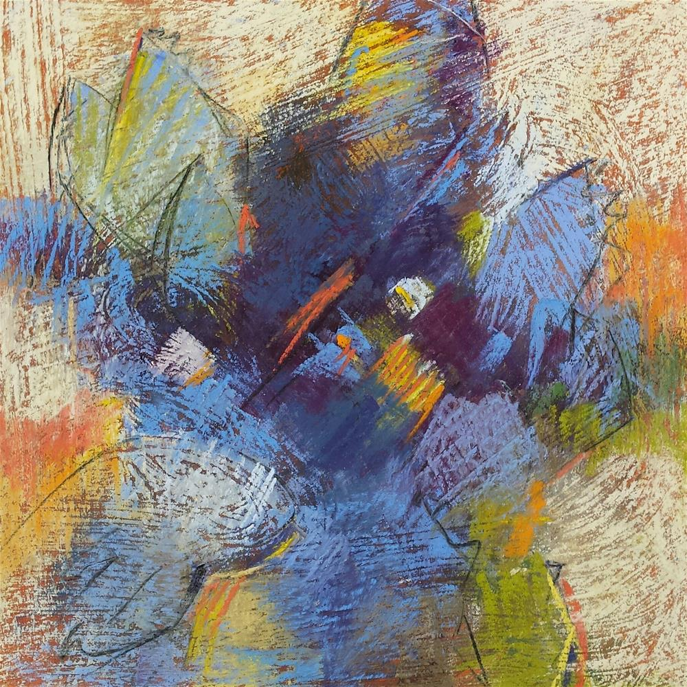 """Blues"" original fine art by Cindy Haase"