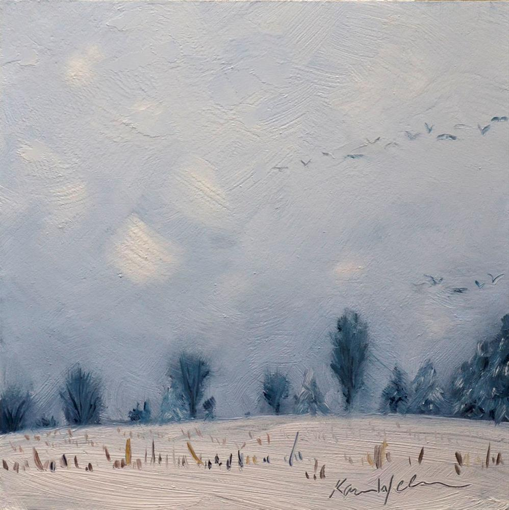 """""""Quiet Migration"""" original fine art by Karen Weber"""
