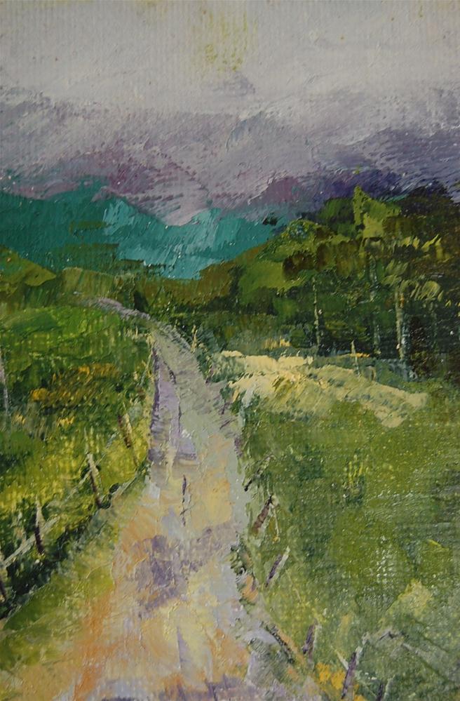 """Home From France"" original fine art by Deborah Harold"