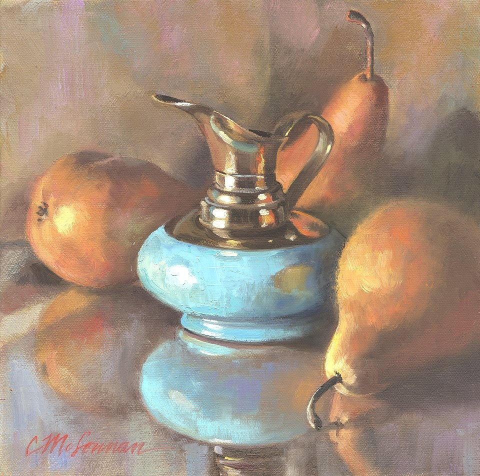 """Six Dollar Pitcher"" original fine art by Connie McLennan"