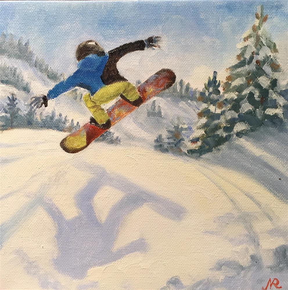 """Jump"" original fine art by Natasha Ramras"