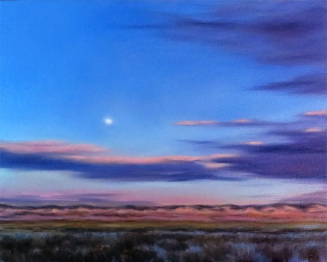"""Blushing Moon"" original fine art by Carol Zirkle"