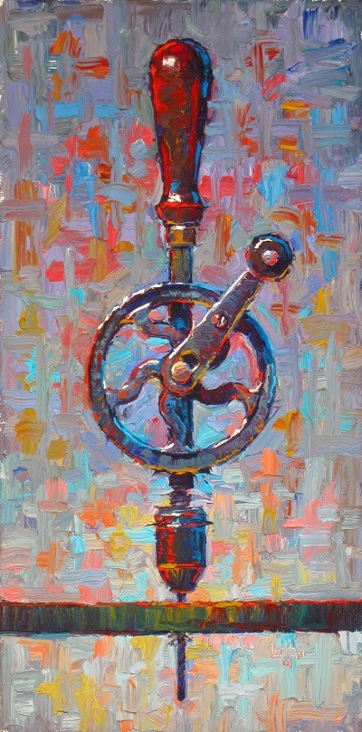 """My Ben Hur Hand Drill, A Bit Bigger"" original fine art by Raymond Logan"