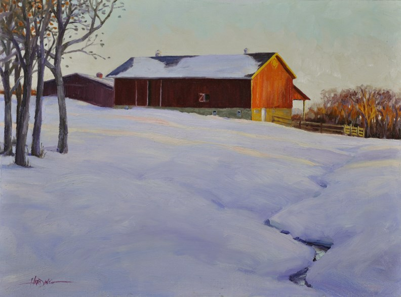 """Galusha Farm"" original fine art by Scott Harding"